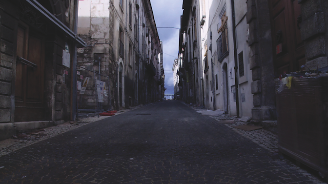 deserted city of L'Aquila - The Wounded Brick